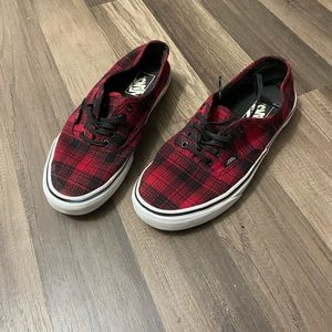 Vans Red and Black Buffalo Plaid Sneaker